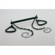 CreativeCedarDesigns Trapeze Bar with Triangle Ring BP 005 Color: Green