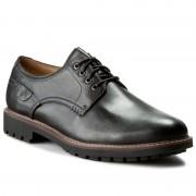 Félcipő CLARKS - Montacute Hall 203510847 Black Leather
