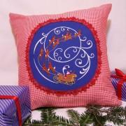 Cadou de craciun perna decorativa personalizata saniuta mosului