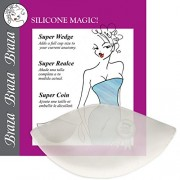 Braza Silicone Dolly Super Wedge Push Up Bra Inserts, clear, one size