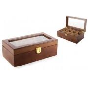 Cutie maro din lemn pentru pastrarea ceasurilor