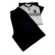 Derry pánské pyžamo z bavlny M černá