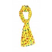 Speelse doodskoppen sjaal geel