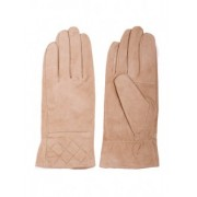 Бежови ръкавици от естествен велур