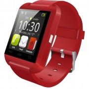 Ceas Smartwatch IMK U8+, Bluetooth, LCD 1.44, Pedometru, Barometru, Altimetru, Procesor 360MHz, Rosu