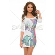 Rochie MissQ Lavish Colours White