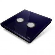 Plaque de recouvrement Diamond pour base Edisio - 2 touches, coloris Bleu Nuit