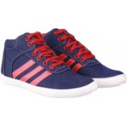 Leather Park Party Wear, Sneakers(Navy)