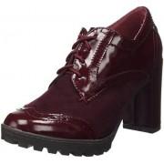 XTI Botin Sra C. Combinado Burdeos, Zapatos de Cordones Oxford para Mujer