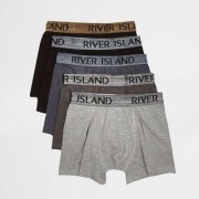 River Island Big and Tall - Multipack zwarte metallic boxershorts
