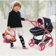Hauck Classic Julia Navy and Pink Toy Doll Pram by Hauck Toys for Kids