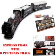 Express Decent TRAIN RAILWAY TOY with 8 pcs Track Battery Operated Vehicle Game