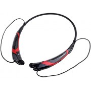Power case HBS 760 Wireless Bluetooth 4.0 Music Stereo Universal Headphone Vibration Neckband Style For Cellphone For iPhone iPad Samsung LG (Black-Red)