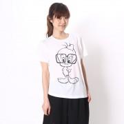 【SALE 64%OFF】ファインプラス FINE PLUS レディース 半袖Tシャツ モデルトゥイティーTシャツ 22803386 レディース