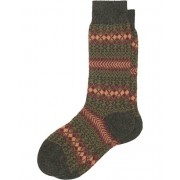 Pantherella Mapperton Fair Isle Cashmere Sock Charcoal