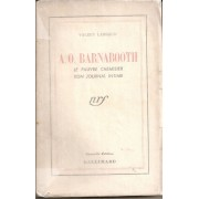 A.O. Barnabooth. Le Pauvre Chemisier - Son Journal Intime.