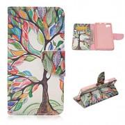 a árvore de vida padrão de moda estojo de couro pu com suporte e suporte de cartão para bq Aquaris m5 (cores sortidas)