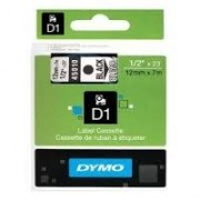 Dymo D1 Label Cassette 12mmx7m (SD45010) - Black on Transparant