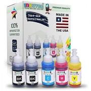 INKUTEN (TM) Set of 5 Refill Ink Kit Ecotank 70ml for Epson T6641 T6642 T6643 T6644 and Expression Eco tank ET-2500 ET-2550 ET-4500 ET-4550 L100 L110 L120 L200 L210 L300 L350 L355 L550 L555 Printers