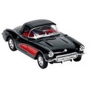 Goki Metalen chevrolet corvette 1957 zwart met dak