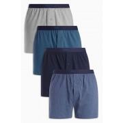 Mens Next Blue Loose Fit Four Pack - Blue