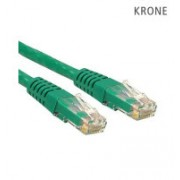 Krone Cat6 UTP Patch Green Molded Cord- 1m