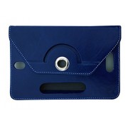 Fastway Rotating 360° Leather Flip Case For Iball Slide Snap 4G2 (Blue)