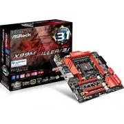 ASRock X99M KILLER/3.1 Carte mère Intel Micro ATX Socket LGA 2011-3