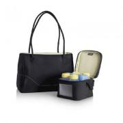 Medela CityStyle - Poseta cu geanta frigorifica, element racire, 4 biberoane (150 ml) cu capace. 200.0625