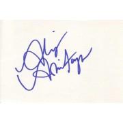 Alison Armitage Autographed Index Card