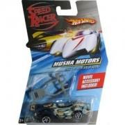 Speed Racer 1:64 Die Cast Hot Wheels Car Musha Motors Race Car with Spear Hooks by Mattel