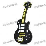 Novelty Silicone Guitar Style USB 2.0 Flash Drive - Black (16GB)