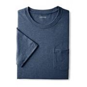ランズエンド LANDS' END メンズ・スーパーT/ポケット付き/半袖/Tシャツ(ミディアムデニムヘザー)