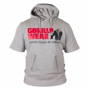 Gorilla Wear Boston Short Sleeve Hoodie - Grey-XL