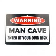 San Diego Gifts Warning Mancave Plastic Signs【ゴルフ その他のアクセサリー>ホーム/オフィス】