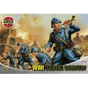 Airfix - WWI French Infantry Series 1, set de figuras (Hornby A01728)