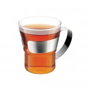 Bodum - Assam Teeglas mit Edelstahlgriff (2er-Set)