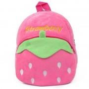 Pink Strawberry Style Baby Bag Stuffed Soft Plush Toy