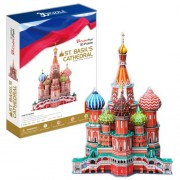 St. Basils Cathedral - World Great Architecture - 173 Pieces BIG SIZE 3D Puzzle - Cubic Fun Series (japan import)