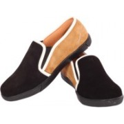 Moladz Verona Casual Shoes(Black, Tan)