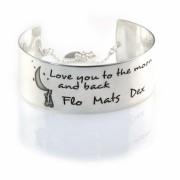 Extra Brede Zilveren Cuff Armband