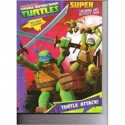 Teenage Mutant Ninja Turtles Super Coloring & Activity Book (Includes Stickers) ~ Turtle Attack!
