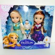 3 Poupees Princesses Elsa Et Anna Et Olaf Reine Des Neiges Frozen