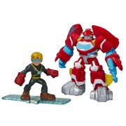 Playskool Heroes Transformers Rescue Bots Heatwave the Fire-Bot and Cody Burns