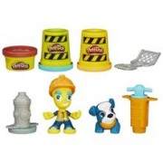 Jucarie Play-Doh Town Road Worker and Pup Toy