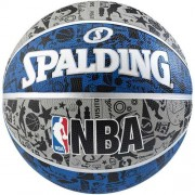 Spalding Basketball SPALDING NBA GRAFFITI (Outdoor) - blau/silber/schw