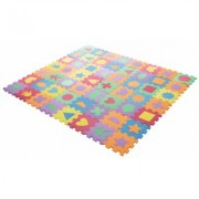 Hey! Play! Foam Floor Shapes Puzzle Learning Mat