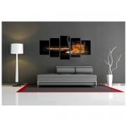 Tablou multicanvas abstract pentru living - 120x75cm, model BM3178