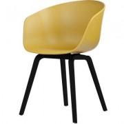 About a Chair 22, senap/svarta ben
