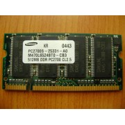 MEMORIE LAPTOP Samsung PC2700S-25331-A0 512mb DDR1